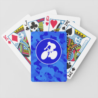 Blue Camo; Camouflage Cycling Card Deck