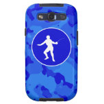 Blue Camo; Camouflage Fencing Samsung Galaxy SIII Cover