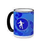 Blue Camo; Camouflage Fencing Coffee Mugs