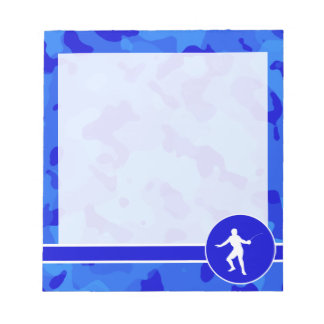 Blue Camo; Camouflage Fencing Notepad