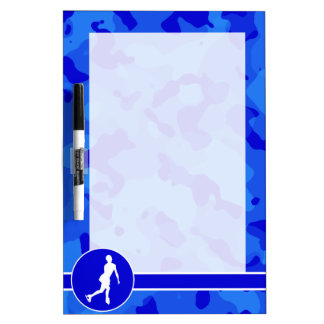 Blue Camo; Camouflage Figure Skating Dry Erase Boards