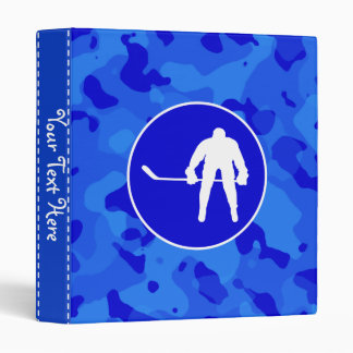 Blue Camo; Camouflage Hockey 3 Ring Binder
