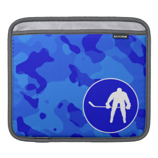 Blue Camo Camouflage Hockey Sleeves For iPads