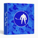 Blue Camo; Camouflage Hockey Vinyl Binder