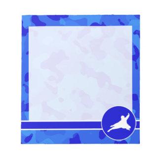 Blue Camo; Camouflage Ninja Notepad