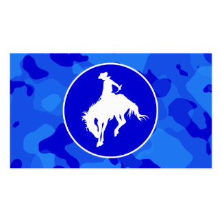 Blue Camo; Camouflage Rodeo Business Card Template