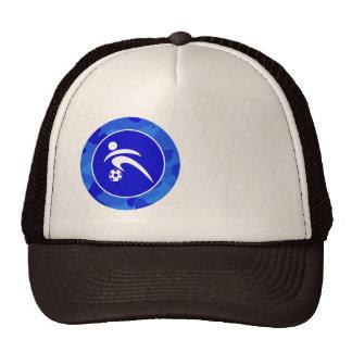 Blue Camo; Camouflage Soccer Trucker Hat