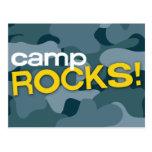 Blue Camo CAMP ROCKS! Postcard