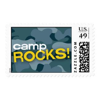 Blue Camo CAMP ROCKS! Stamps