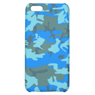 blue camo iphone case cover for iPhone 5C