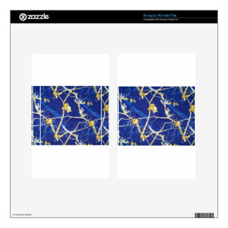 Blue Camo Kindle Fire Decals
