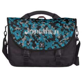 Blue Camo Laptop Bag Template