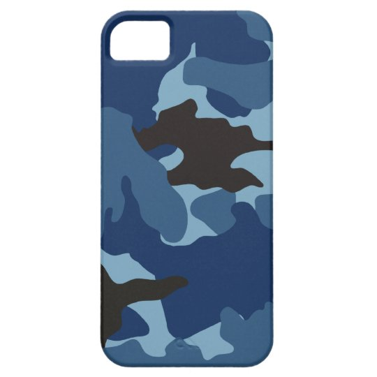 Blue Camo Military iPhone 5 Barely There Cases