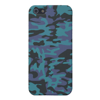 Blue camo pattern cover for iPhone SE/5/5s