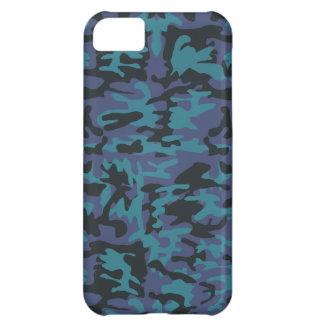 Blue camo pattern iPhone 5C case
