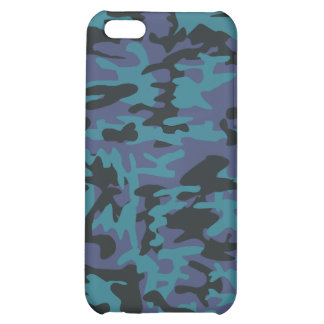 Blue camo pattern iPhone 5C cover