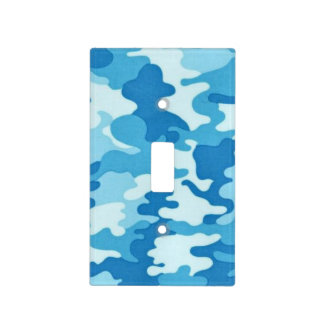 Blue Camo Pattern Light Switch cover