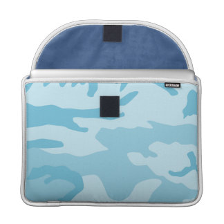 Blue Camo Pattern Sleeves For MacBook Pro