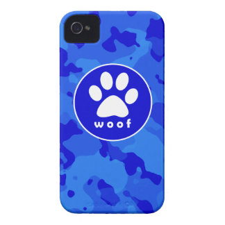 Blue Camo; Paw Print iPhone 4 Covers