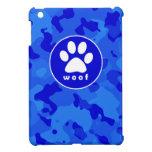 Blue Camo; Paw Print Cover For The iPad Mini