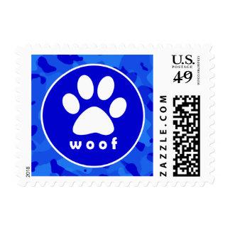 Blue Camo; Paw Print Stamp