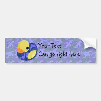 Blue Camo Rubber Ducky Bumper Sticker