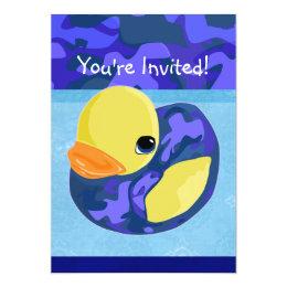 Blue Camo Rubber Ducky Card