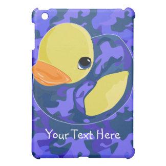 Blue Camo Rubber Ducky iPad Mini Cases