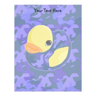 Blue Camo Rubber Ducky Letterhead