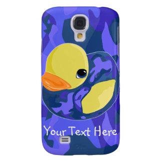 Blue Camo Rubber Ducky Samsung Galaxy S4 Case