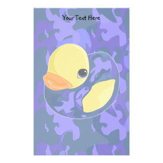 Blue Camo Rubber Ducky Stationery