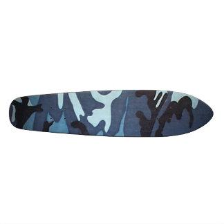 Blue Camo Skateboard Oldschool
