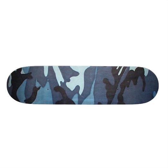 Blue Camo Skateboard Pro