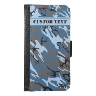 Blue Camo Smartphone Wallet w/ Text