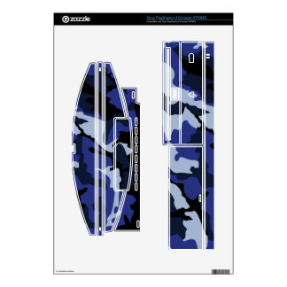 Blue Camo, Sony PlayStation 3 Console Skins Decals For PS3