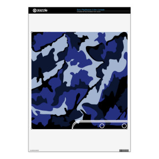 Blue Camo, Sony PlayStation 3 Slim Console Skin Skin For PS3 Slim