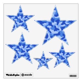 Blue Camo Star Shape Camouflage Decals