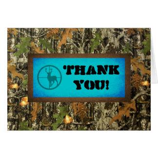 Blue Camo Thank You Card