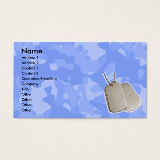 Blue Camo w/Dog Tags Business Card