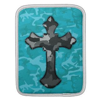 Blue Camo with Cross iPad Sleeve