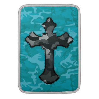 Blue Camo with Cross MacBook Sleeve