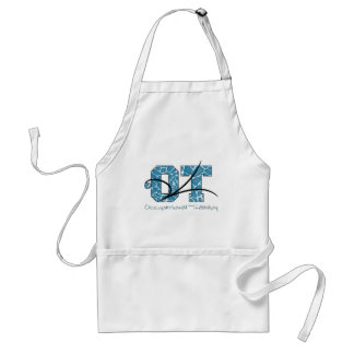 Blue Camo with scroll Adult Apron