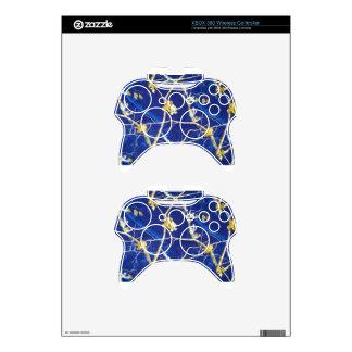 Blue Camo Xbox 360 Controller Decal
