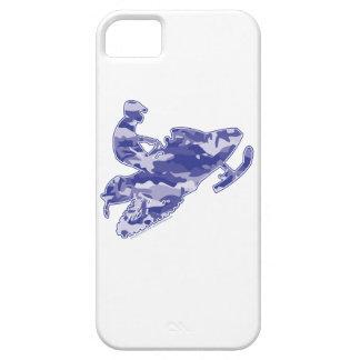 Blue Camoflage Snowmobiler iPhone SE/5/5s Case