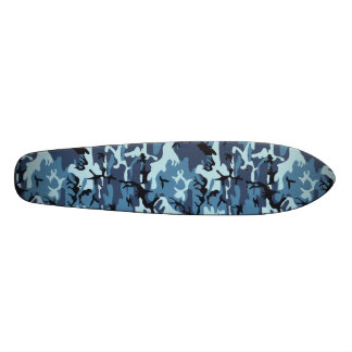 "Blue Camouflage 7 1/8"" Skateboard"