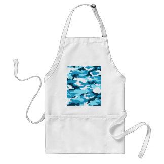 Blue camouflage adult apron