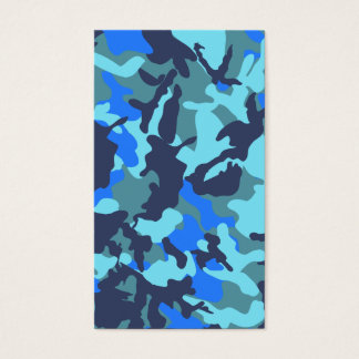 Blue Camouflage Business Card