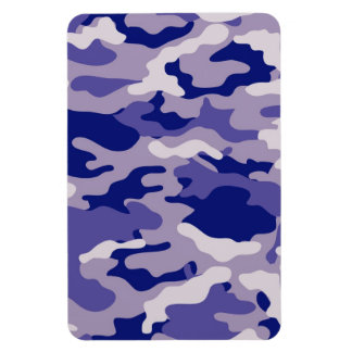Blue Camouflage Camo texture Magnet