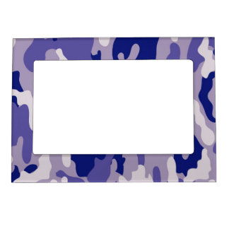 Blue Camouflage Camo texture Magnetic Frame