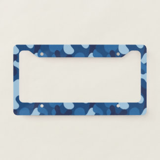 Blue Camouflage. Camo your License Plate Frame